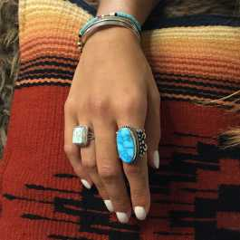 Which turquoise ring to wear according to the morphology of your hand?